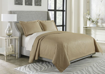 Image for Alton 3 Piece Gold King Bed Throw Set