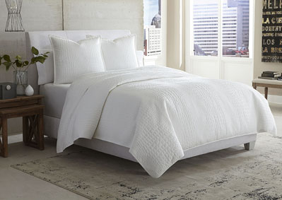 Image for Ashworth 3 Piece White King Coverlet Set