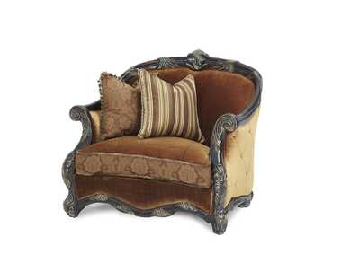 Image for Essex Manor English Tea Wood Trim Chair 1/2