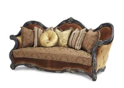 Essex Manor Deep English Tea Wood Trim Sofa - Opt1