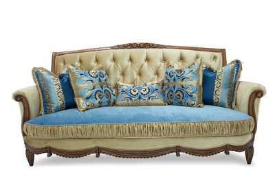 Adrianna Gold & Blue Sofa