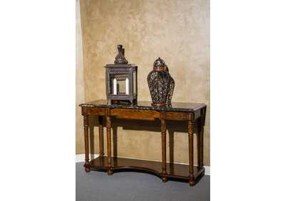Aristocrat Cordovan Console Table w/Marble Top
