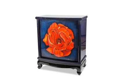 Illusions Accents Blue Bar W/ Red Flower Art