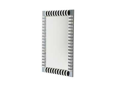 Montreal Rectangular Wall Mirror w/crystal & Glass