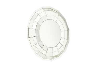 Montreal Round Cut Glass Wall Mirror