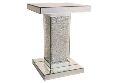 Image for Montreal Silver Mirrored Accent Table w/Crystals