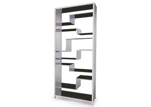Pietro Silver Display Bookcase
