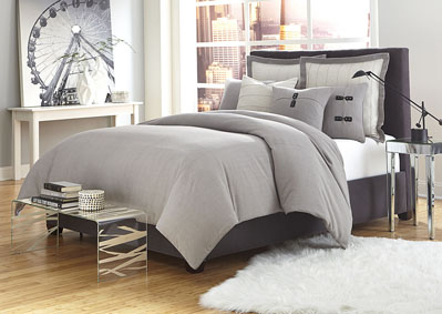 Image for Fusion Grey 8 pc. King Duvet Set