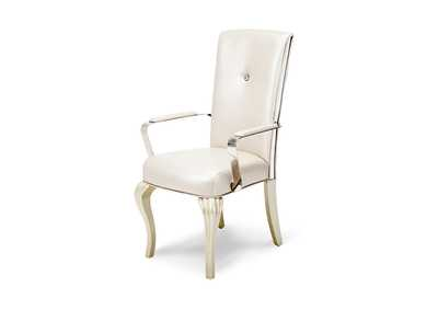 Image for Hollywood Loft Pearl Arm Dining Chair [2/ctn]
