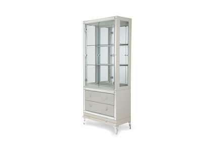 Hollywood Loft Pearl Curio w/Drawers