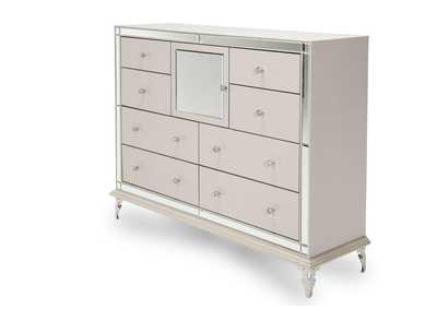 Image for Hollywood Loft Pearl Upholstered Dresser