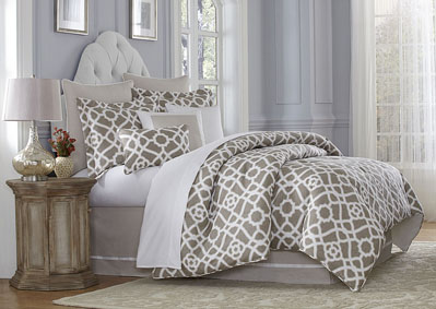 Harper Natural 10 Piece King Comforter Set