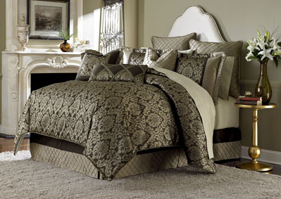 Image for Imperial Court Bronze 10 pc. King Comforter Set
