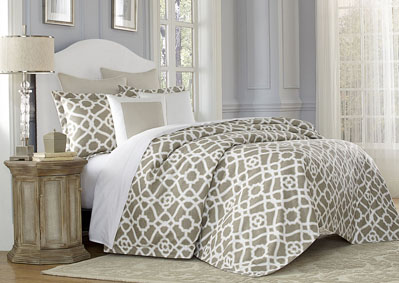 Image for Juliette Nautral 8 pc. King Duvet Set