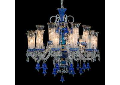 Image for Michael Amini Glass 18 Light Chandelier