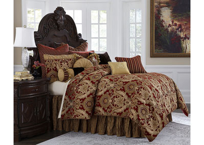 Image for Lafayette Red 13 pc. King Comforter Set