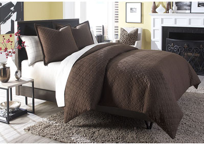 Image for Leigh 3 Piece Cocoa King Coverlet Set