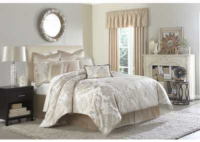Image for Marbella Silver 9 pc. Queen Comforter Set