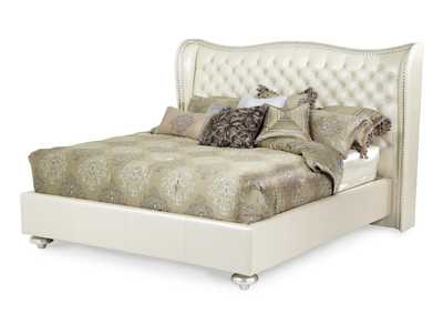 Hollywood Swank Creamy Pearl California King Upholstered Platform Bed
