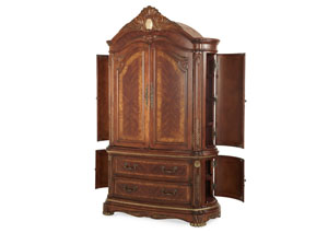 Cortina Honey Walnut Armoire