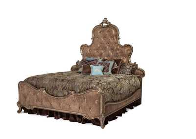 Image for Platine de Royale Antique Platinum Eastern King Panel Bed w/Brown Fabric