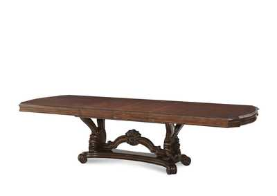 Palace Gates Royal Sable Rectangular Trestle Dining Table w/2 x 18