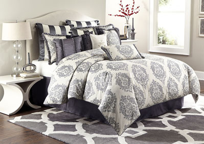Image for Peyton Graphite 12 pc. Queen Comforter Set