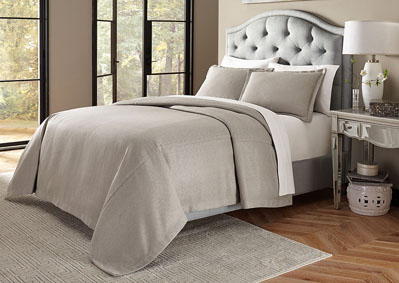 Image for Port Orleans 3 Piece Gray King Bed Throw Set