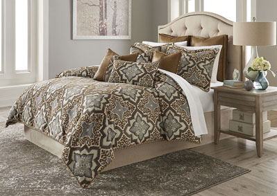 Image for Porter Saddle 9 pc. Queen Comforter Set