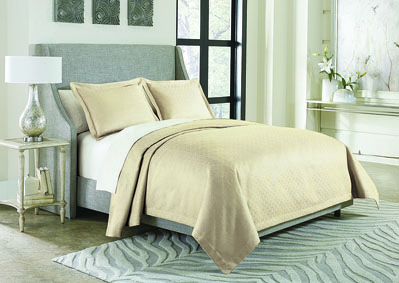 Image for Potenza Taupe 3 pc. Queen Bed Throw Set