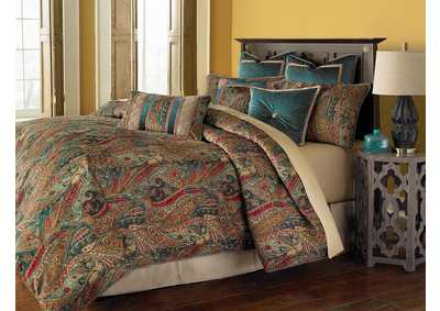 Image for Seville Multicolor 9 pc. Queen Comforter Set