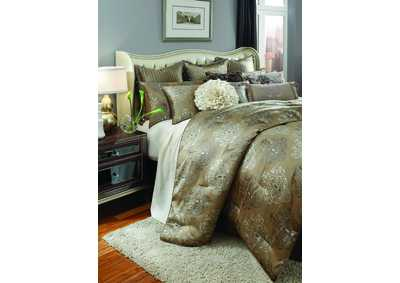 Image for Solitaire Pewter 12 pc. Queen Comforter Set
