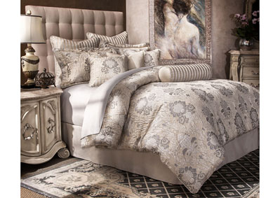 Image for Sycamore Silver 10 pc. King Comforter Set