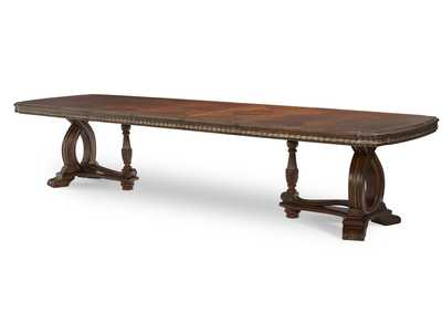 The Sovereign Soft Mink Rectangular Dining Table w/3 x 20