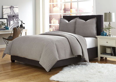Image for Trent 3 Piece Gray King Coverlet Set