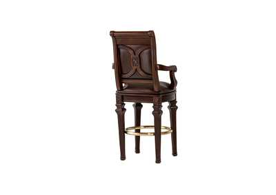 Villagio Hazelnut Swivel Barstool