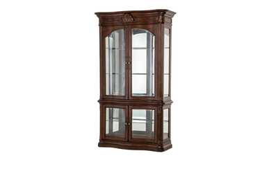 Villagio Hazelnut Curio w/Lighted Top (2 Pc)