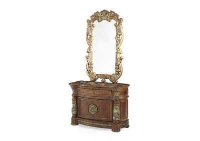 Image for Villa Valencia Classic Chestnut Bachelor's Chest w/Decorative Mirror