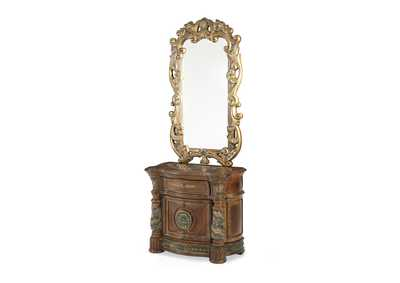 Image for Villa Valencia Classic Chest Beside Chest & Decorative Mirror