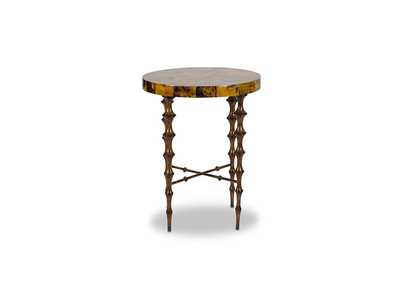Discoveries Round Accent Table w/Spindle Legs