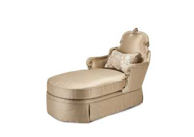 Image for Platine de Royale Champagne Wood Trim Chaise