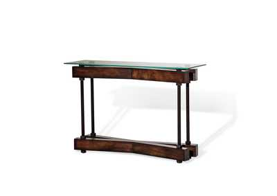 Image for Brown Glass Top Console Table