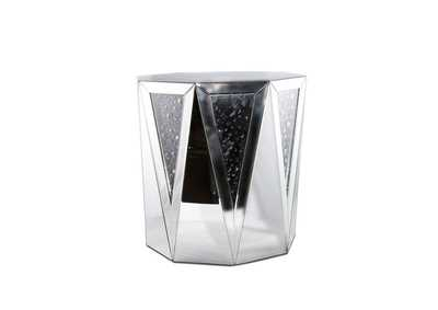 Montreal Octagonal Drum End Table w/Crystal