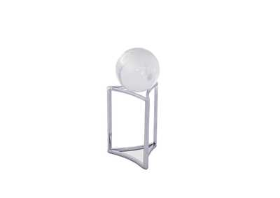 Montreal Silver Stand w/Crystal Globe, Large, Pack/4