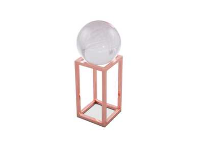 Montreal Rose Gold Stand w/Crystal Ball, Small, Pack/4