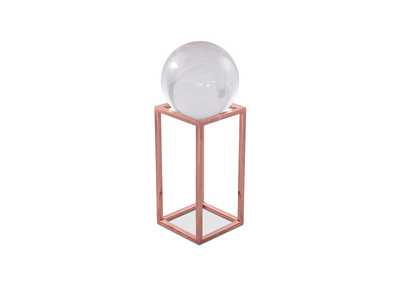 Montreal Rose Gold Stand w/Crystal Ball, Large, Pack/4
