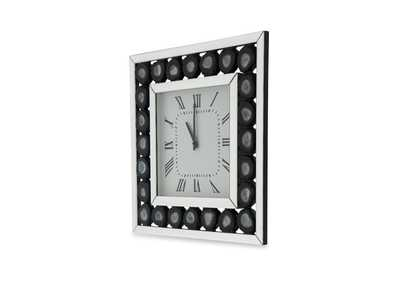 Image for Montreal White & Black Square Clock
