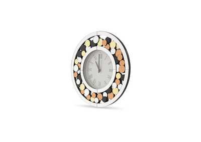 Image for Montreal Silver Round Clock w/Colored Accents