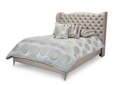 Image for Hollywood Loft Pearl Eastern King Upholstered Platform Bed
