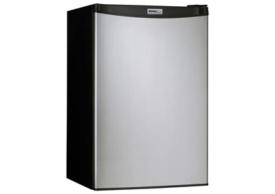 Designer Energy Star 4.4 Cu. Ft. Compact Refrigerator/Freezer with Spotless Steel Door